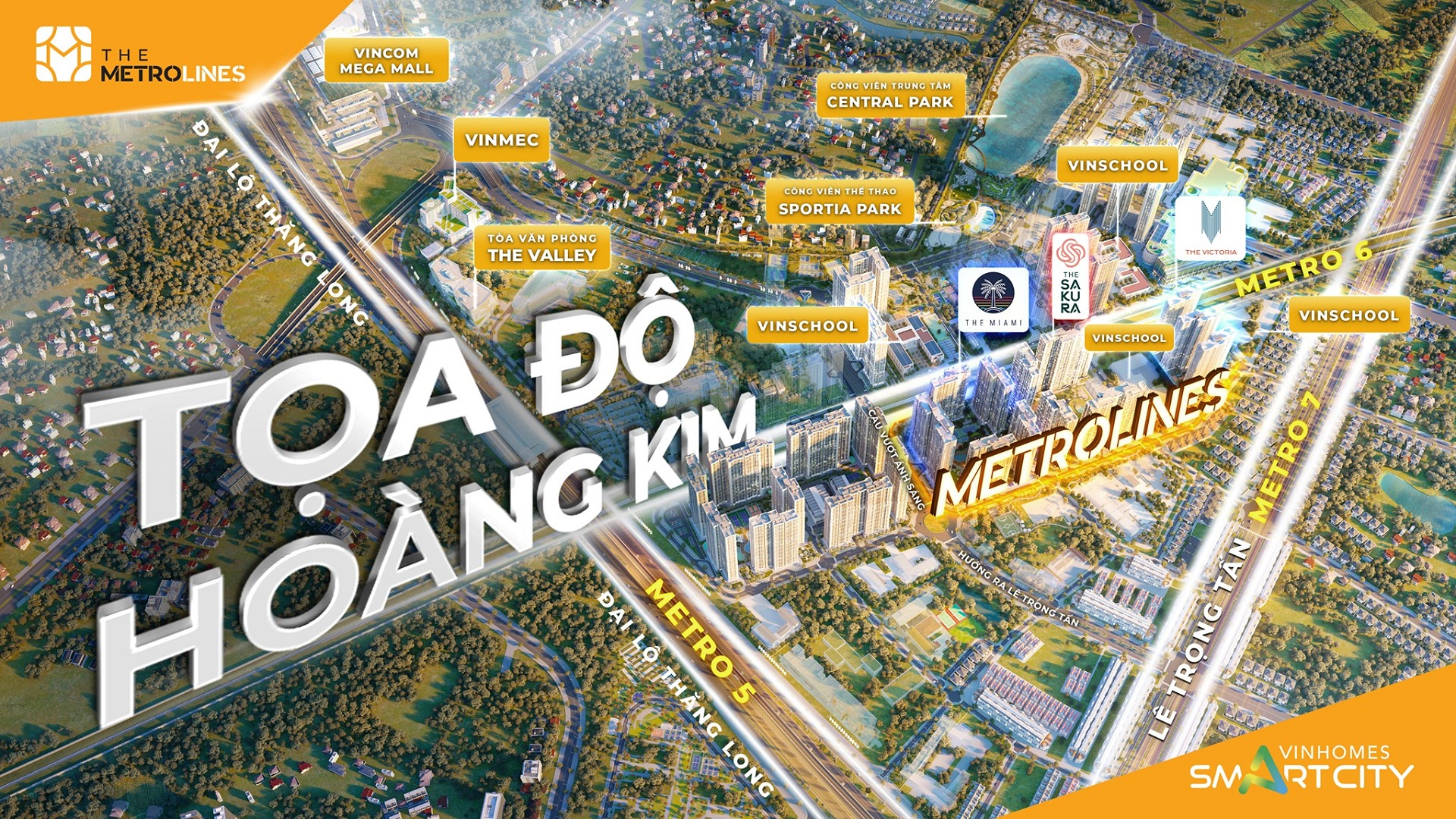 vị trí dự án the metrolines vinhomes smart city