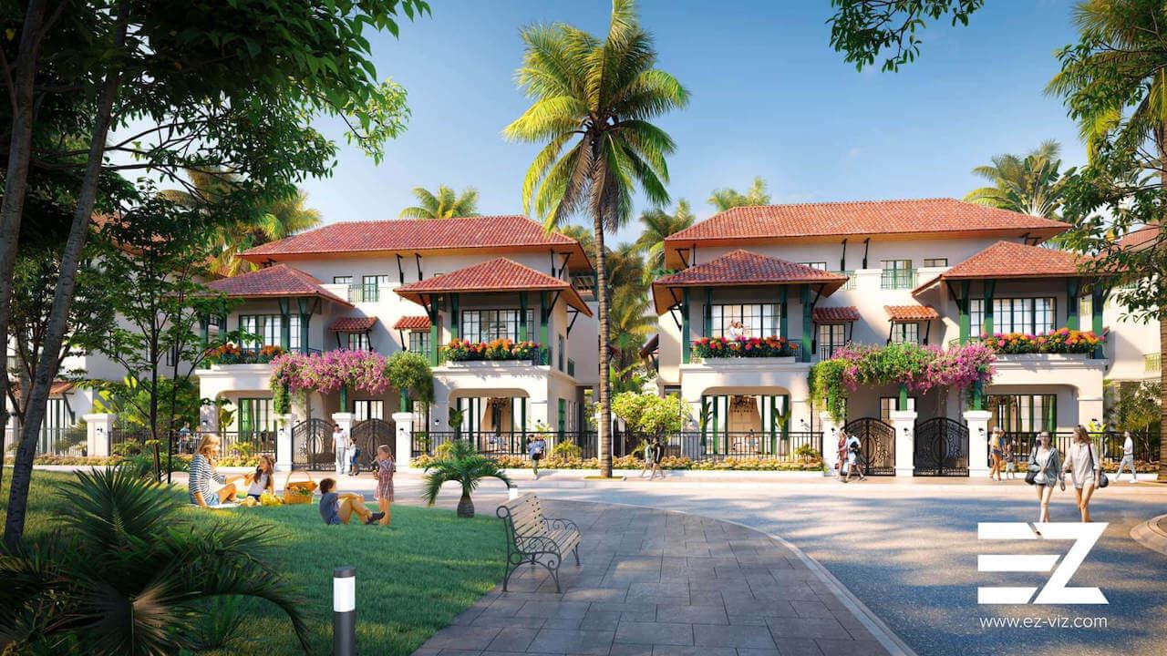 phối cảnh biệt thự dự án sun tropical village phú quốc