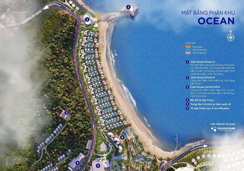 mặt bằng phân khu ocean dự án meysenses lucia bay bãi lữ