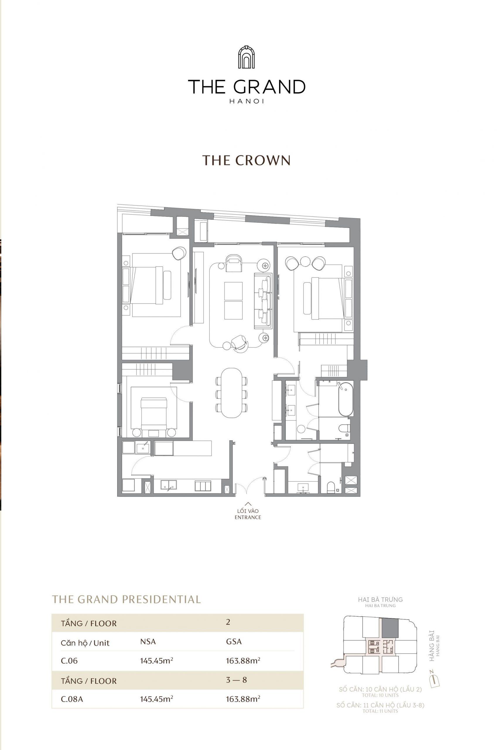 thiết kế căn hộ the crown 10