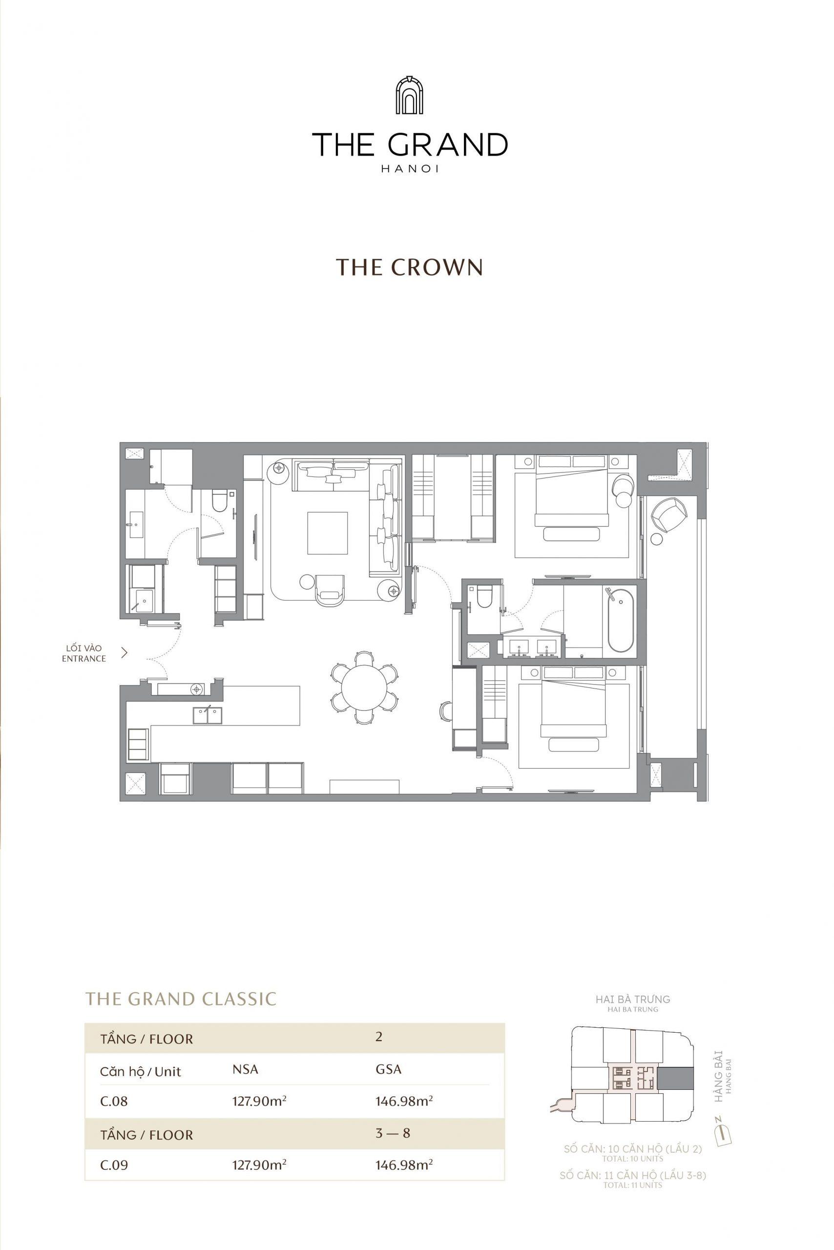 thiết kế căn hộ the crown 11