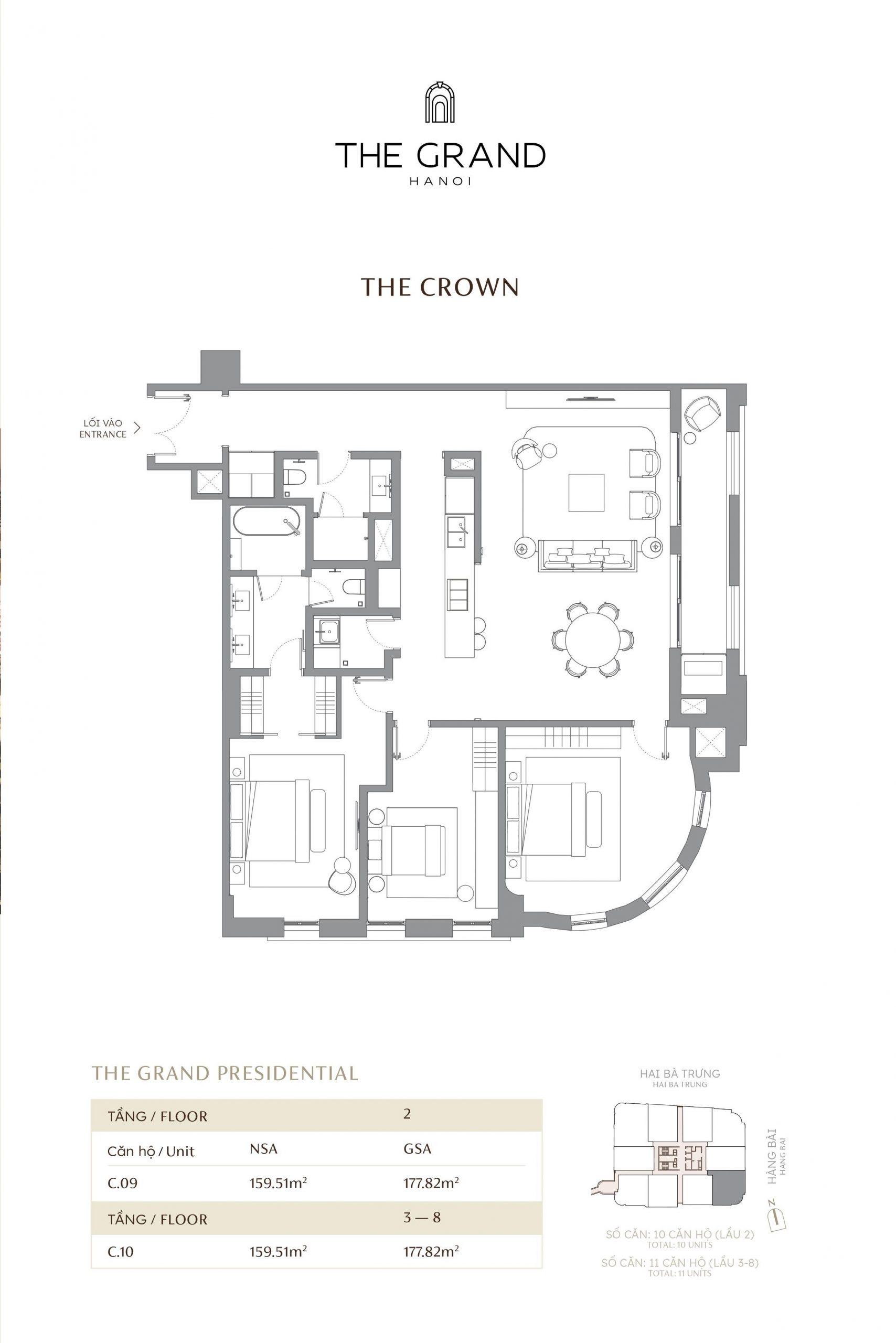 thiết kế căn hộ the crown 12