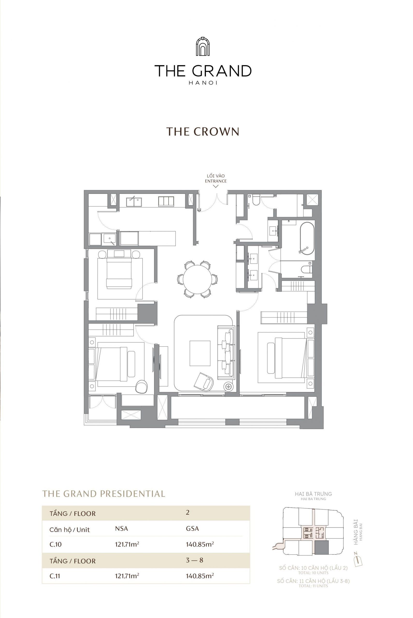 thiết kế căn hộ the crown 13