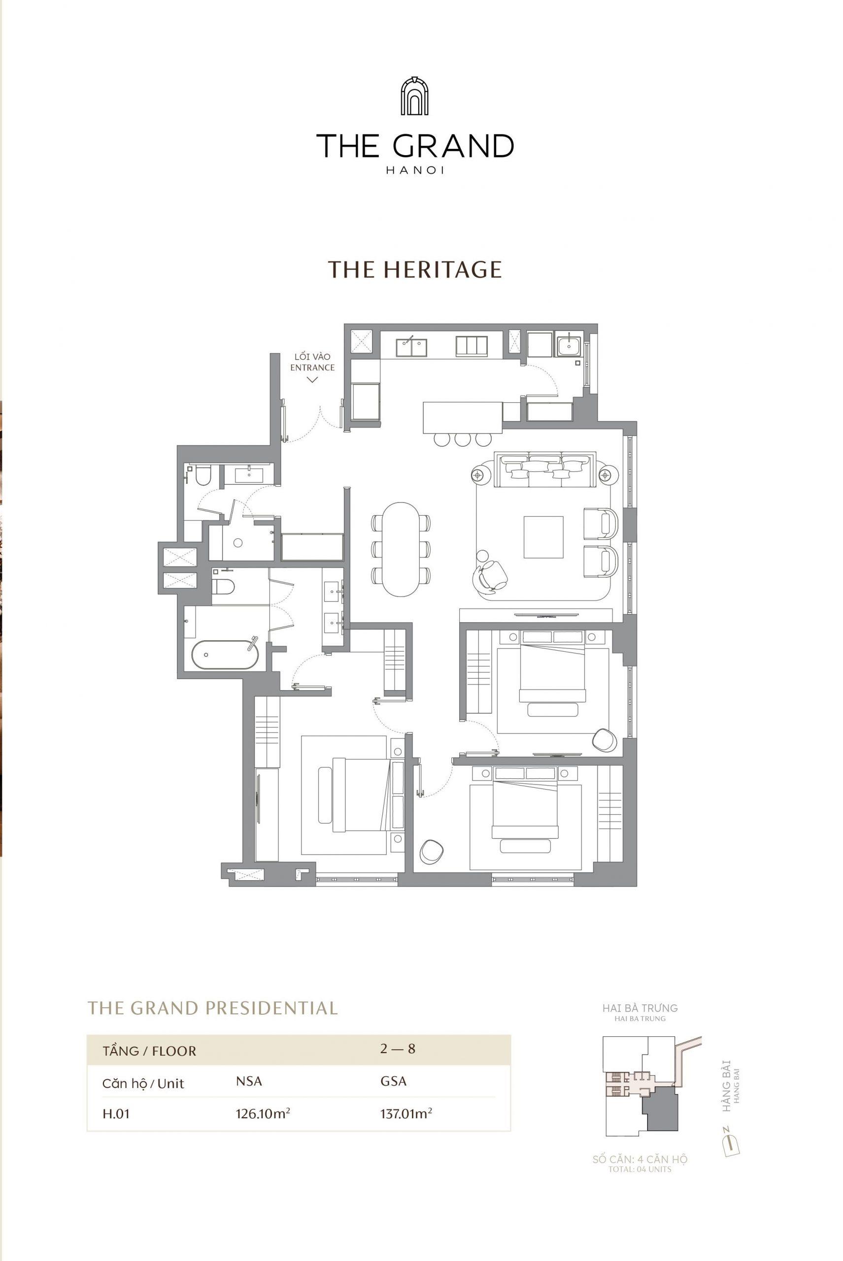 thiết kế căn hộ the heritage 1