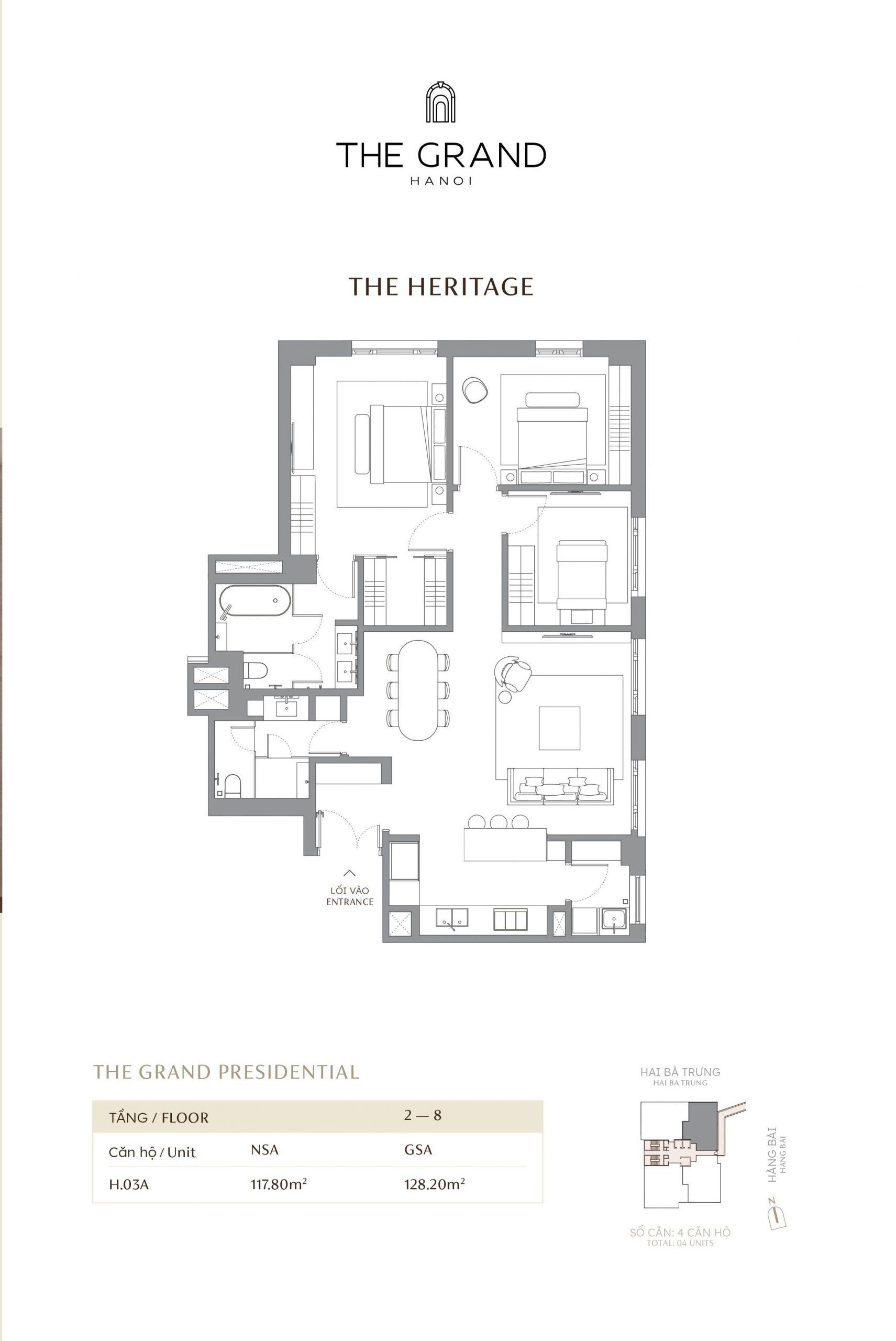 thiết kế căn hộ the heritage 4