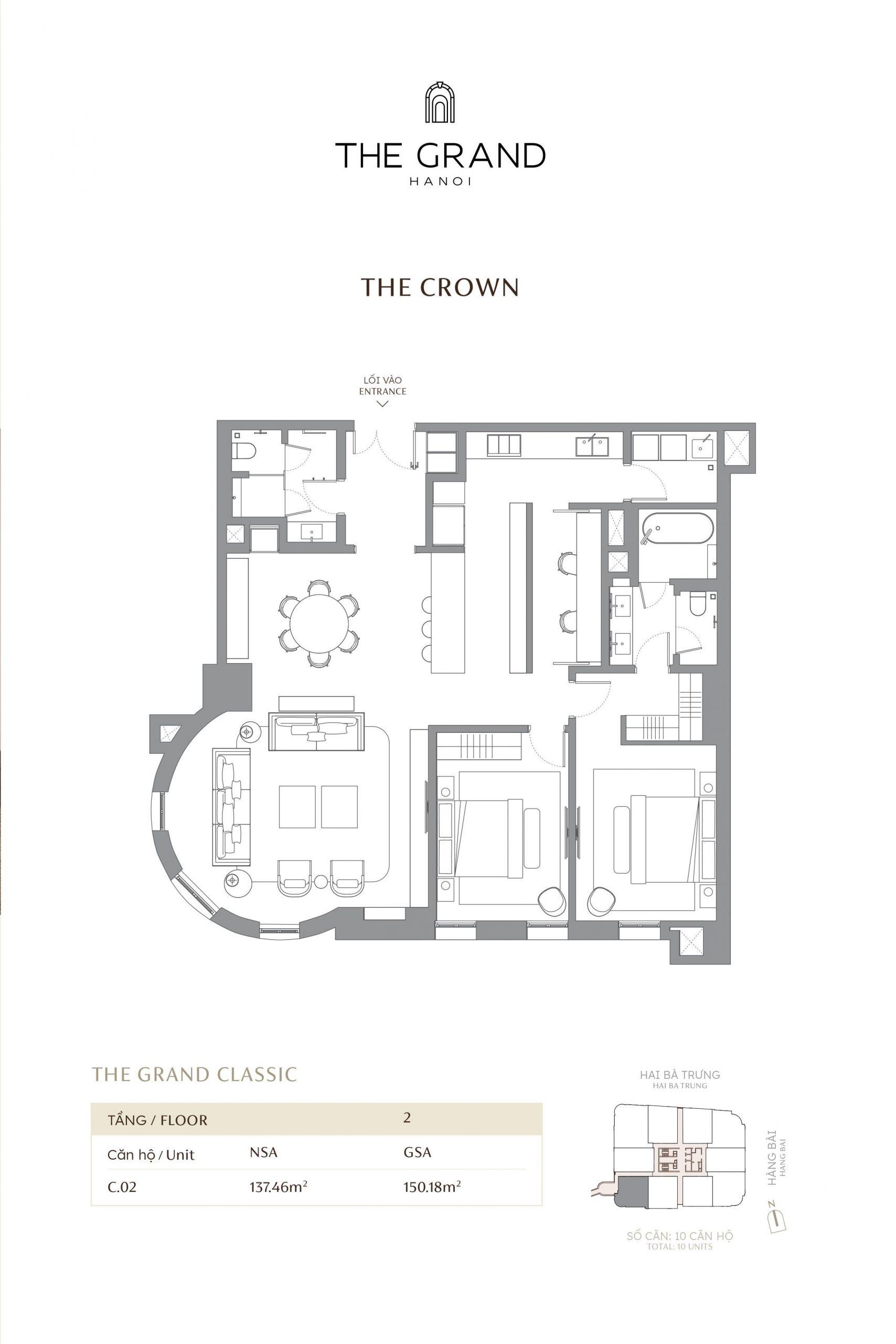 thiết kế căn hộ the crown 2