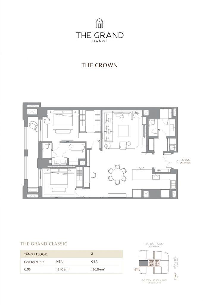 thiết kế căn hộ the crown 3