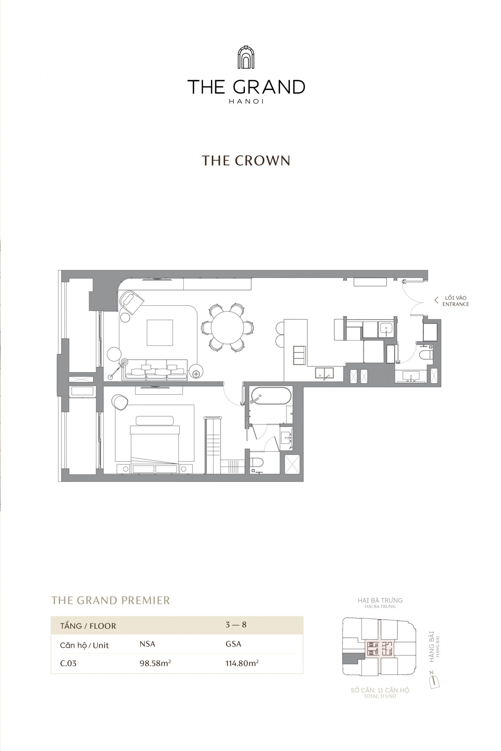 thiết kế căn hộ the crown 4