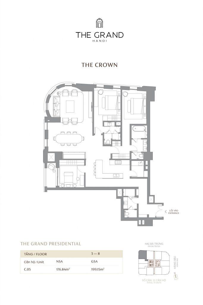 thiết kế căn hộ the crown 5