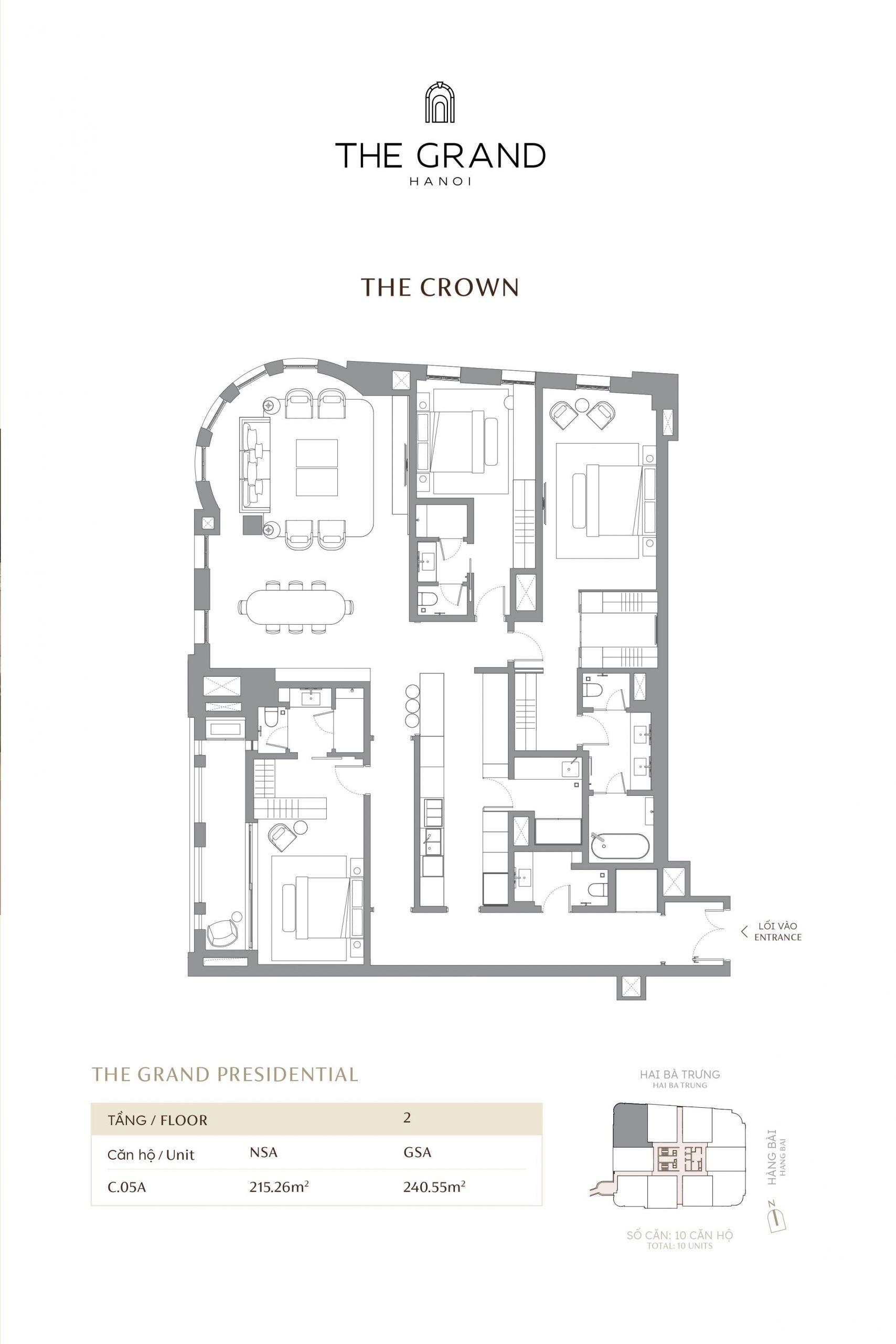 thiết kế căn hộ the crown 6