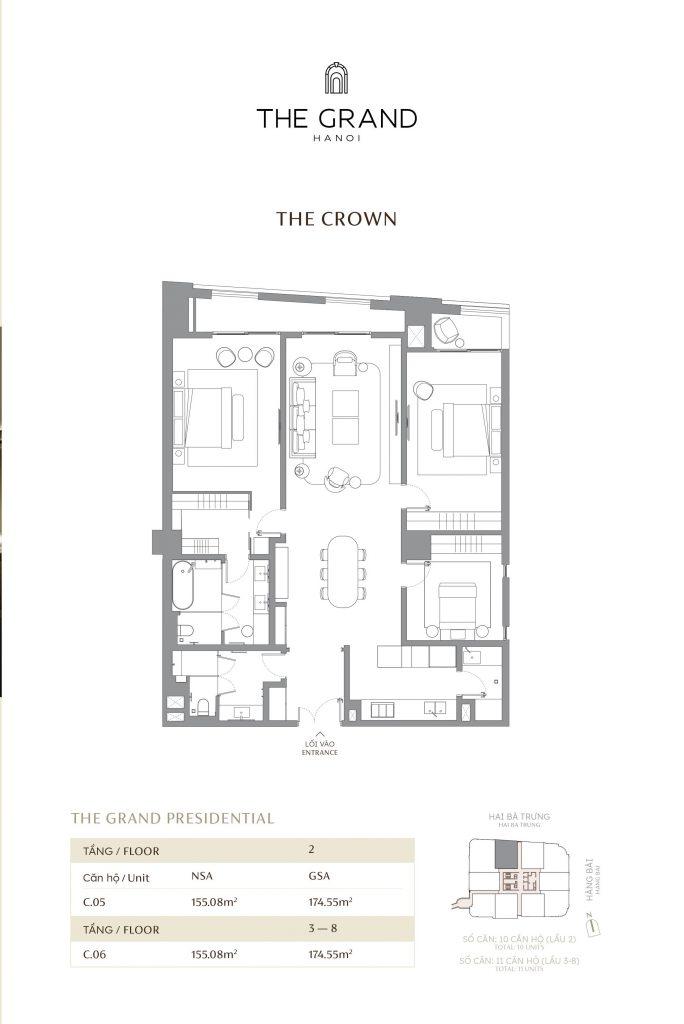 thiết kế căn hộ the crown 8