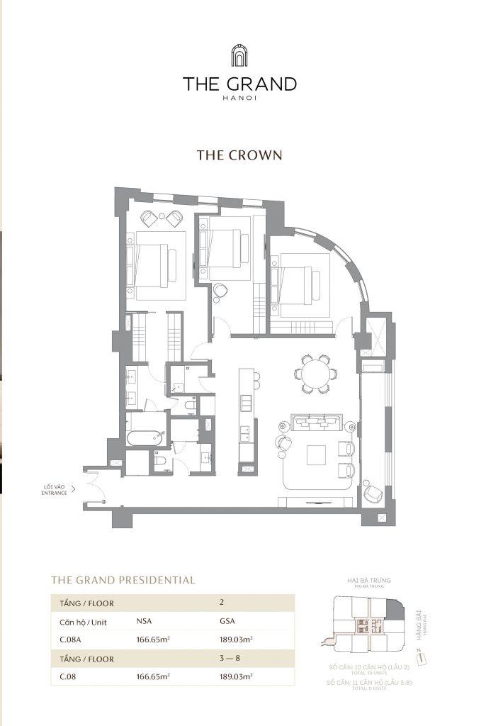 thiết kế căn hộ the crown 9