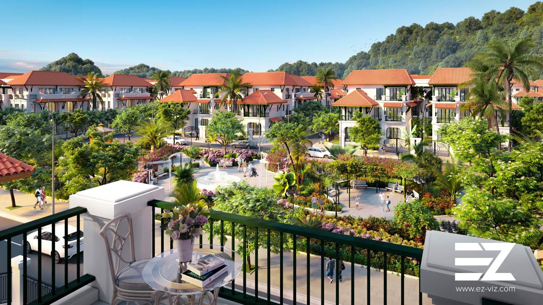 thiết kế biệt thự dự án sun tropical village phú quốc