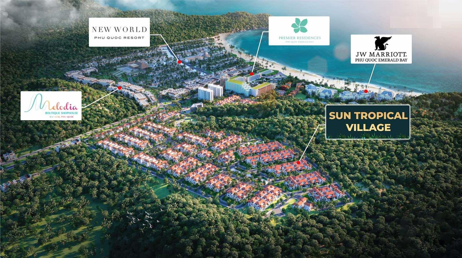 vị trí dự án sun tropical village phú quốc