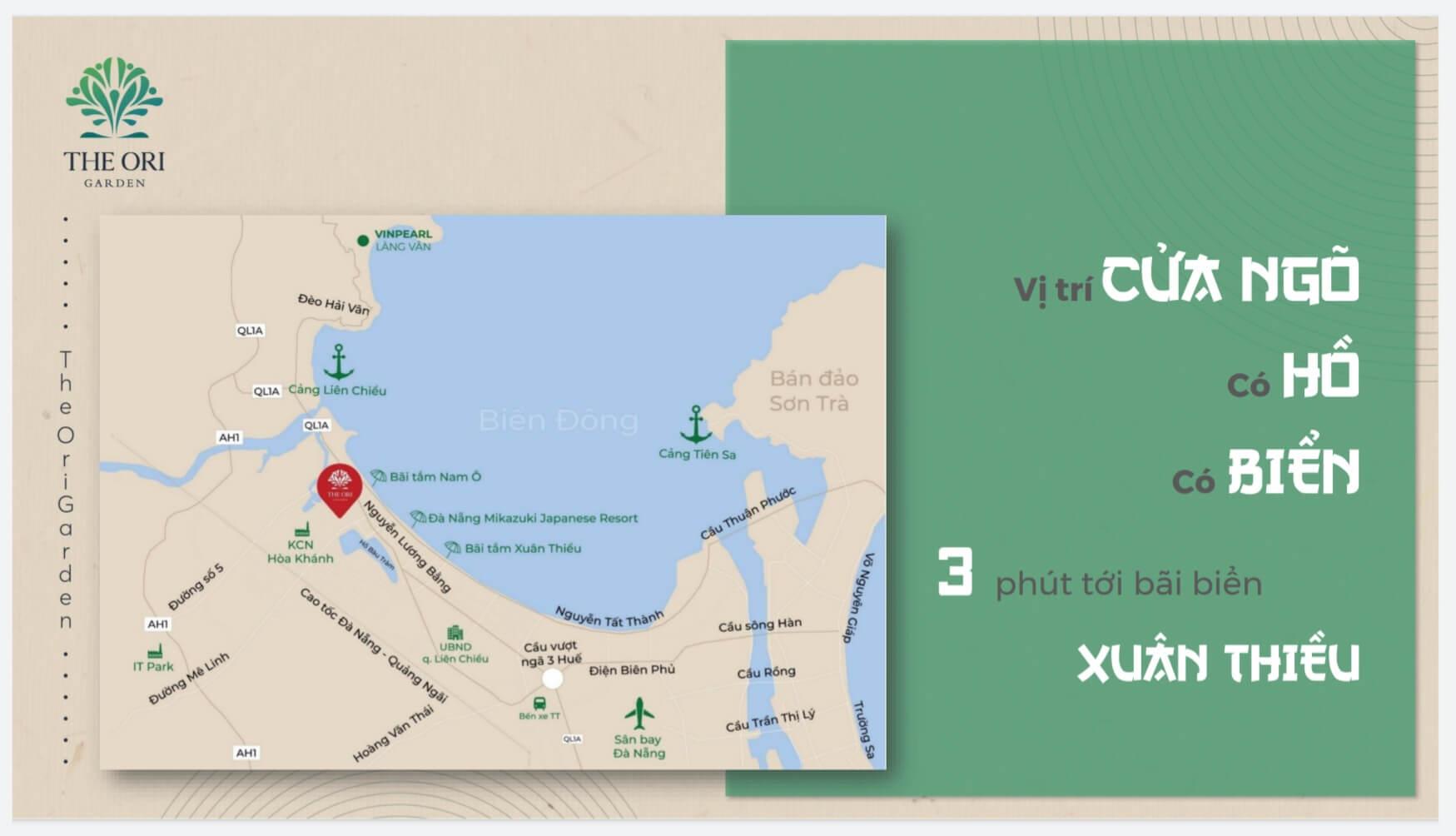 vị trí dự án the ori garden đà nẵng