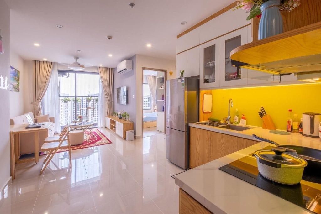 nội thất căn hộ dự án vinhomes sky park bắc giang