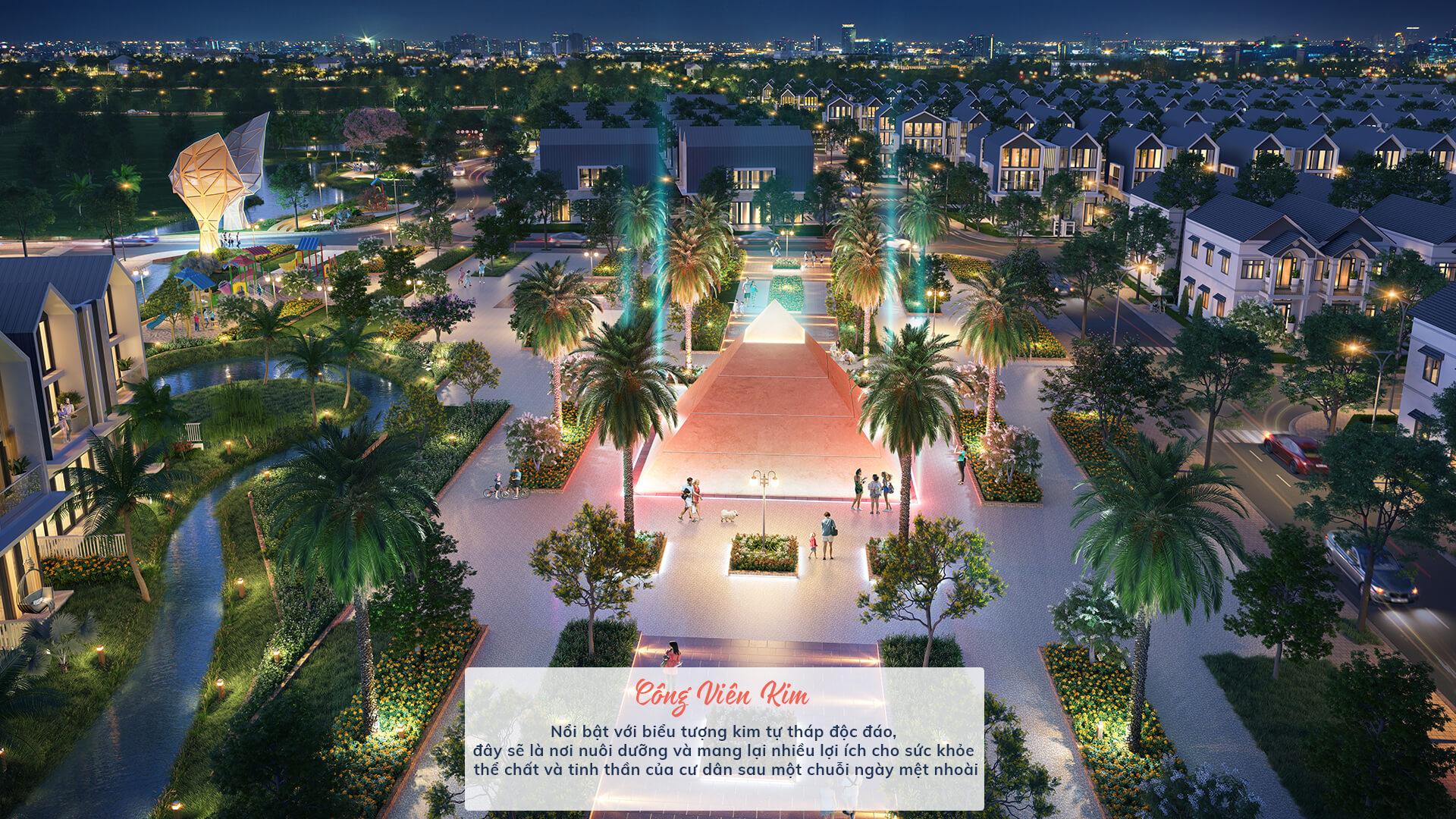 công viên kim dự án the fusion châu đức