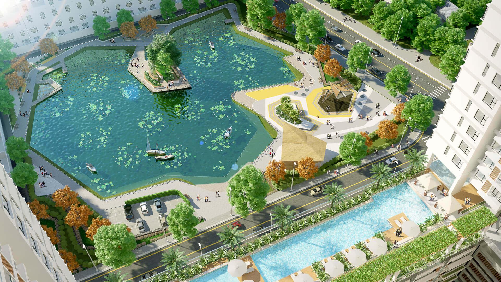 công viên luna park tại the peak garden quận 7