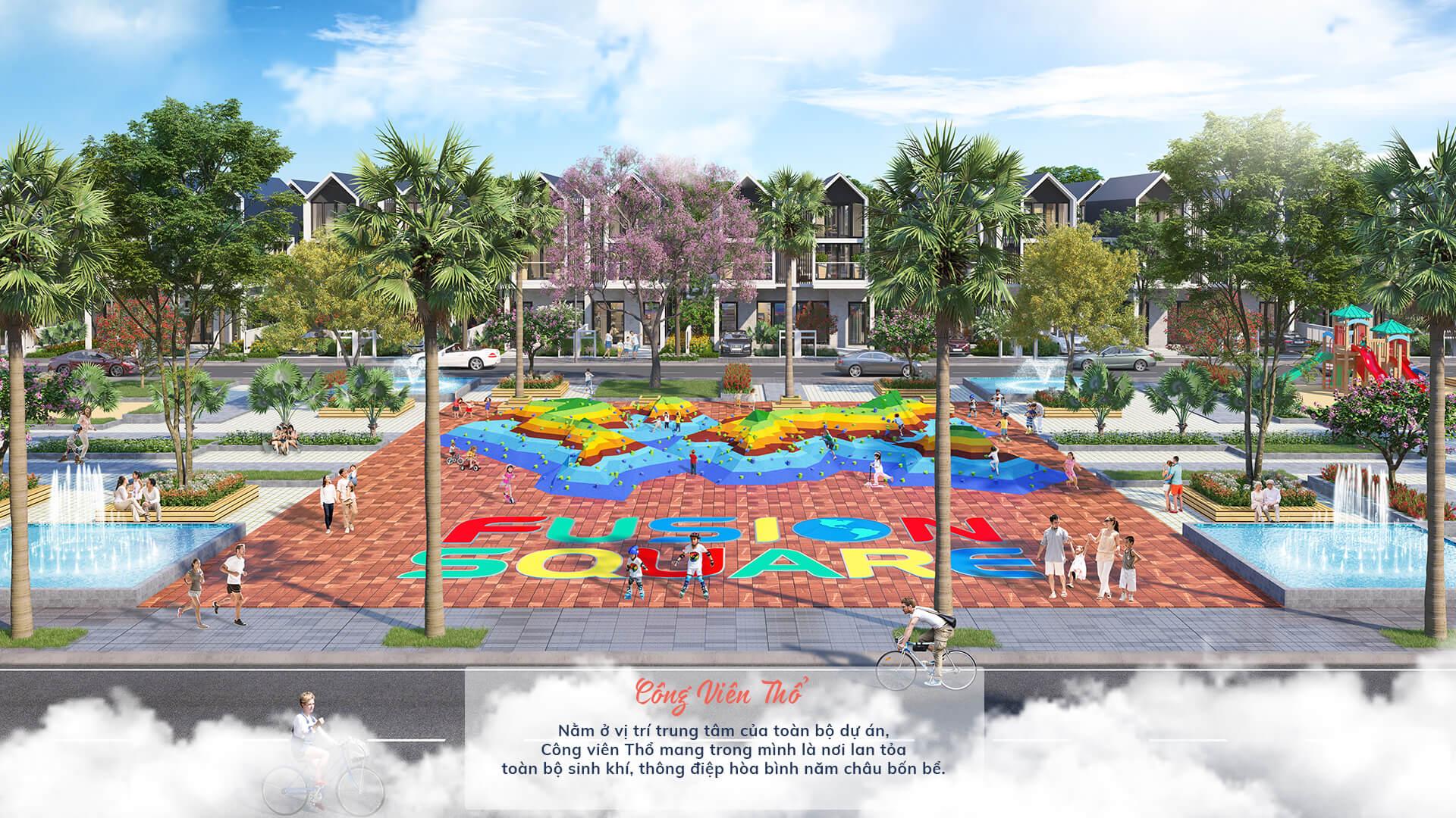 công viên thổ dự án the fusion châu đức