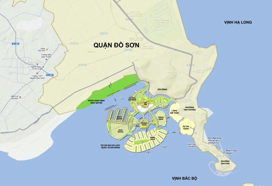 vị trí dự án dragon ocean đồ sơn hải phòng