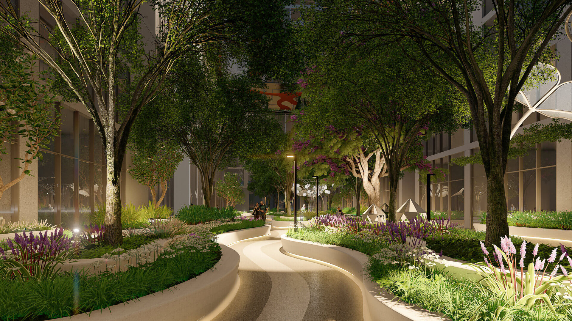 lối dạo bộ dự án the peak garden quận 7