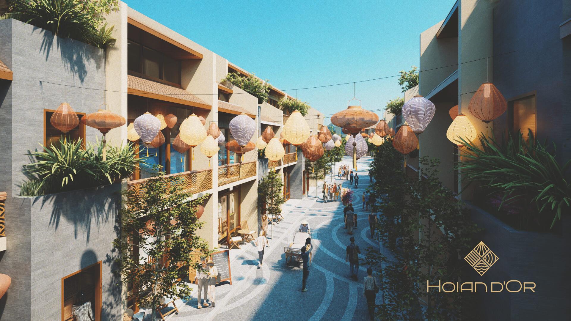 shophouse dự án hoian d'or