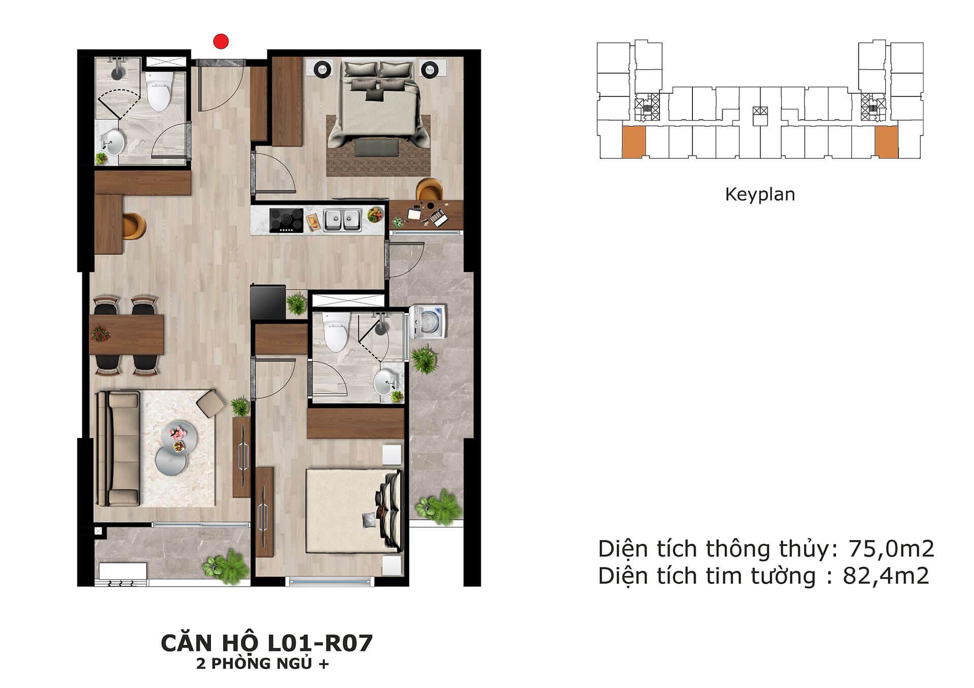 thiết kế căn hộ l1 dự án eden garden thái bình