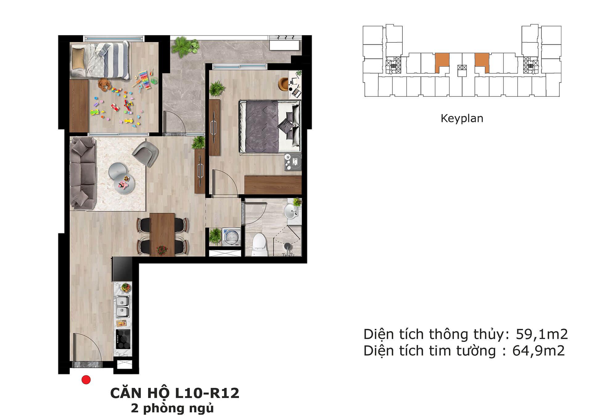 thiết kế căn hộ l10 dự án eden garden thái bình