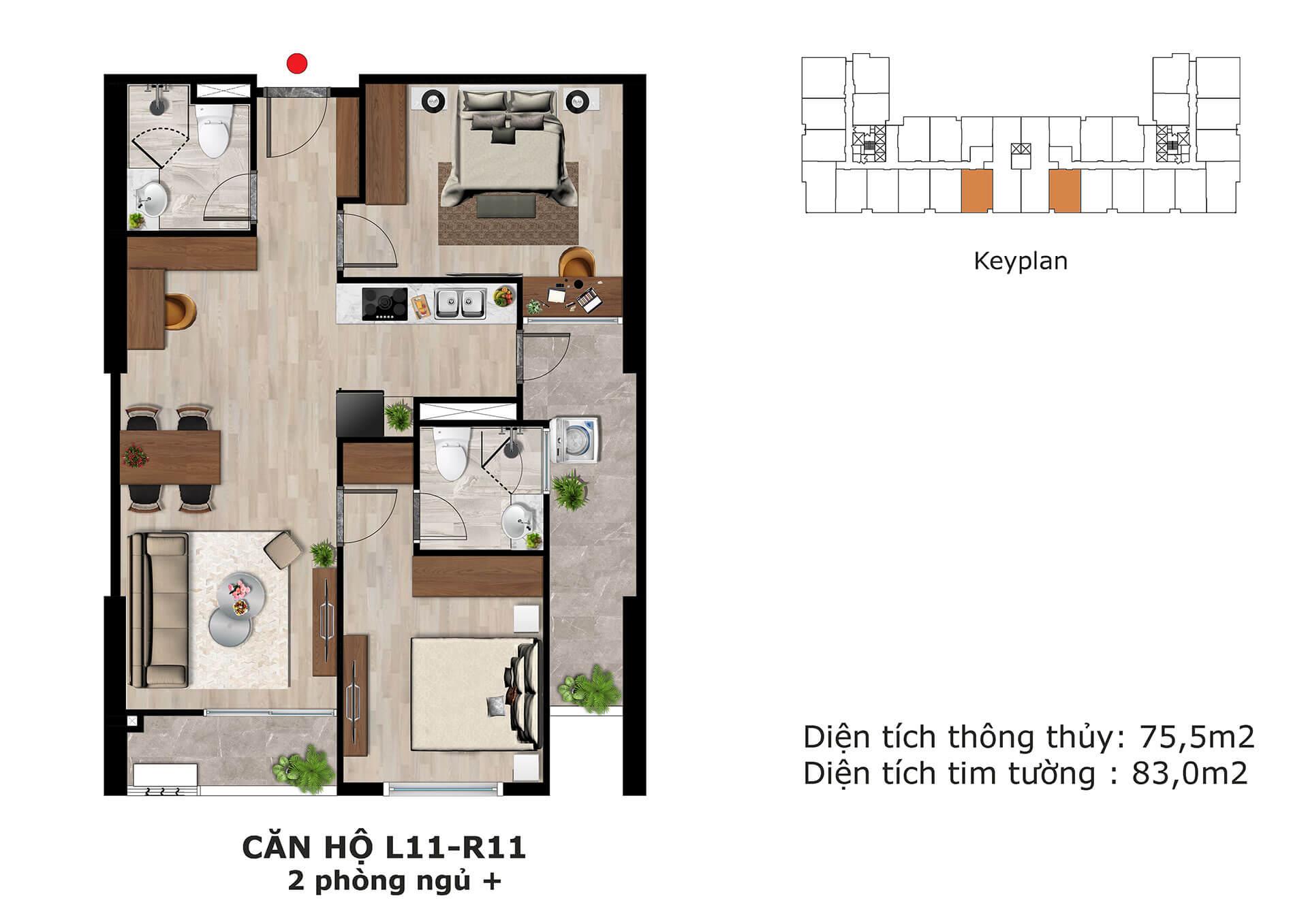 thiết kế căn hộ l11 dự án eden garden thái bình