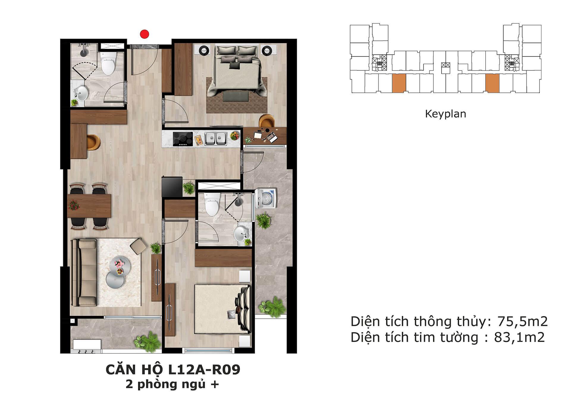 thiết kế căn hộ l13 dự án eden garden thái bình