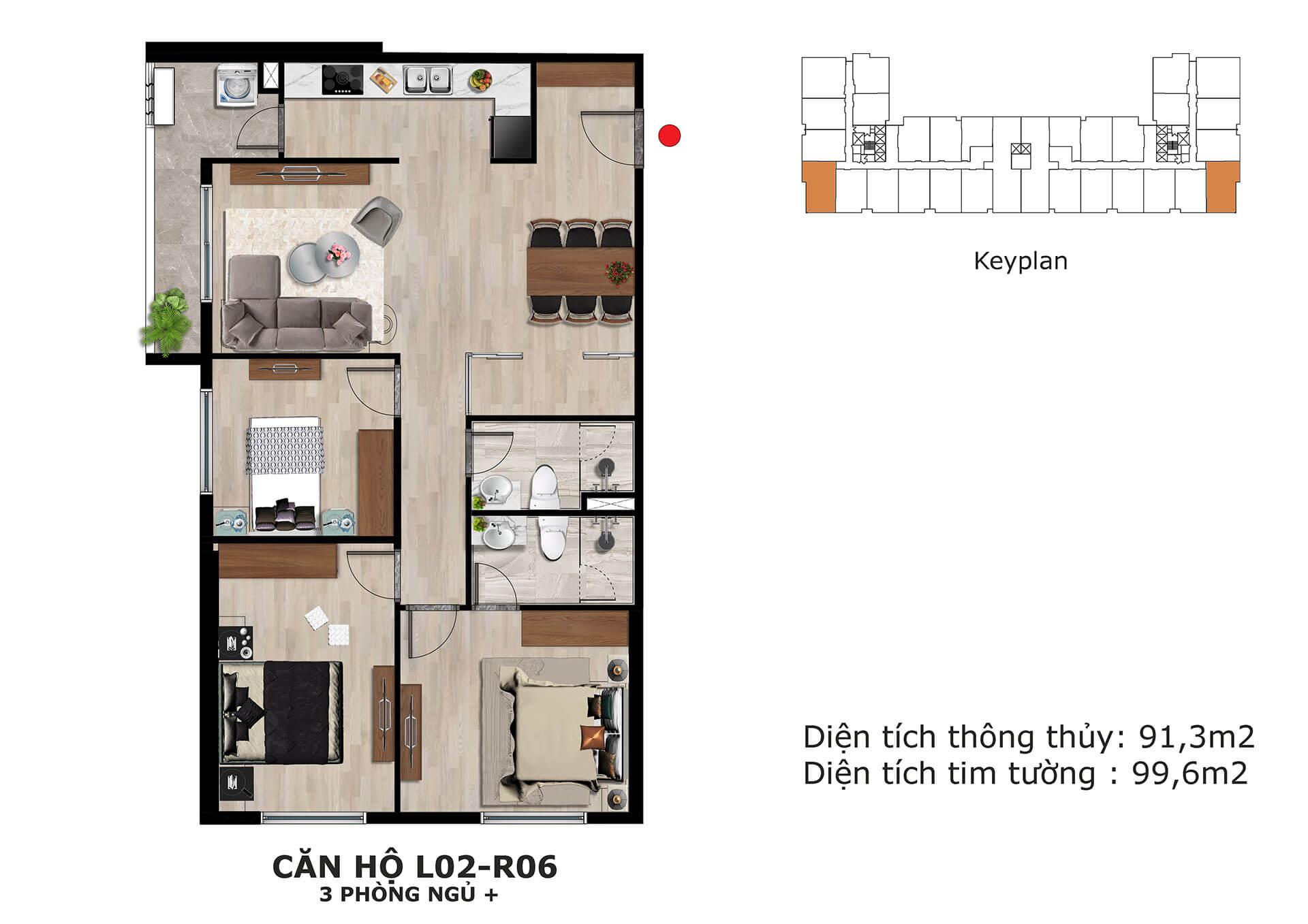 thiết kế căn hộ l2 dự án eden garden thái bình