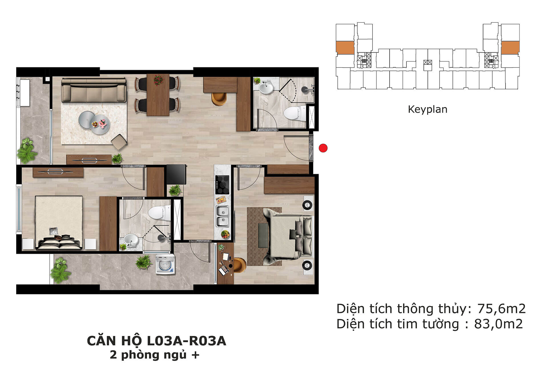 thiết kế căn hộ l3 dự án eden garden thái bình