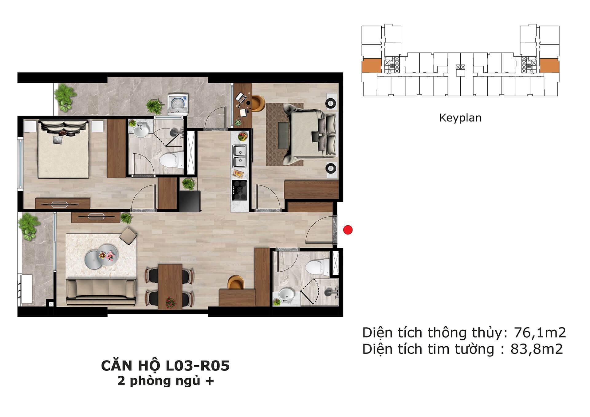 thiết kế căn hộ l4 dự án eden garden thái bình
