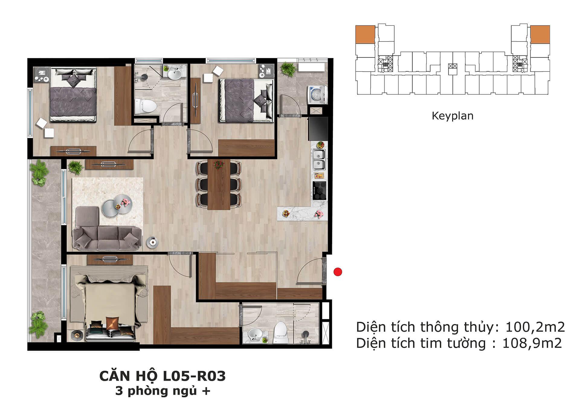 thiết kế căn hộ l5 dự án eden garden thái bình