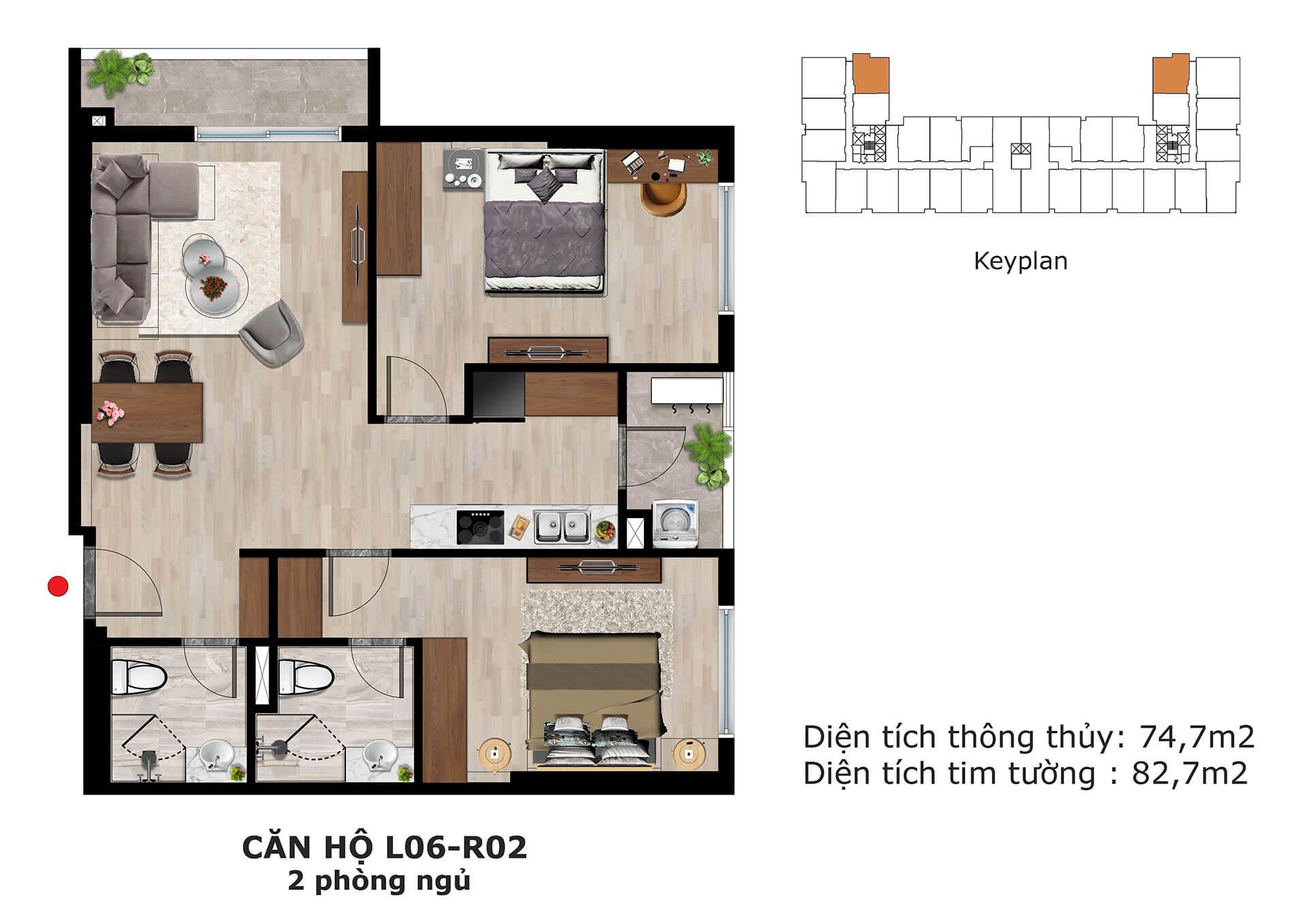 thiết kế căn hộ l6 dự án eden garden thái bình