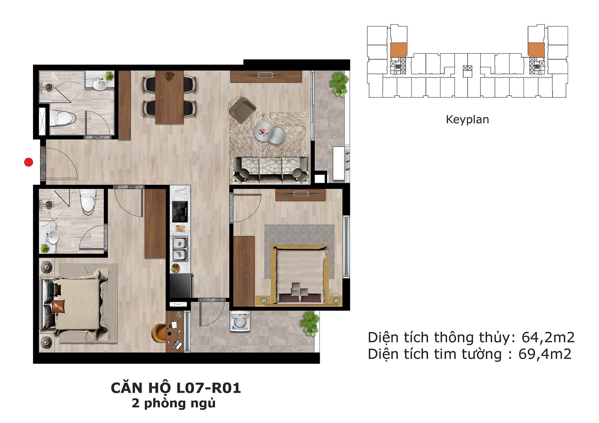 thiết kế căn hộ l7 dự án eden garden thái bình