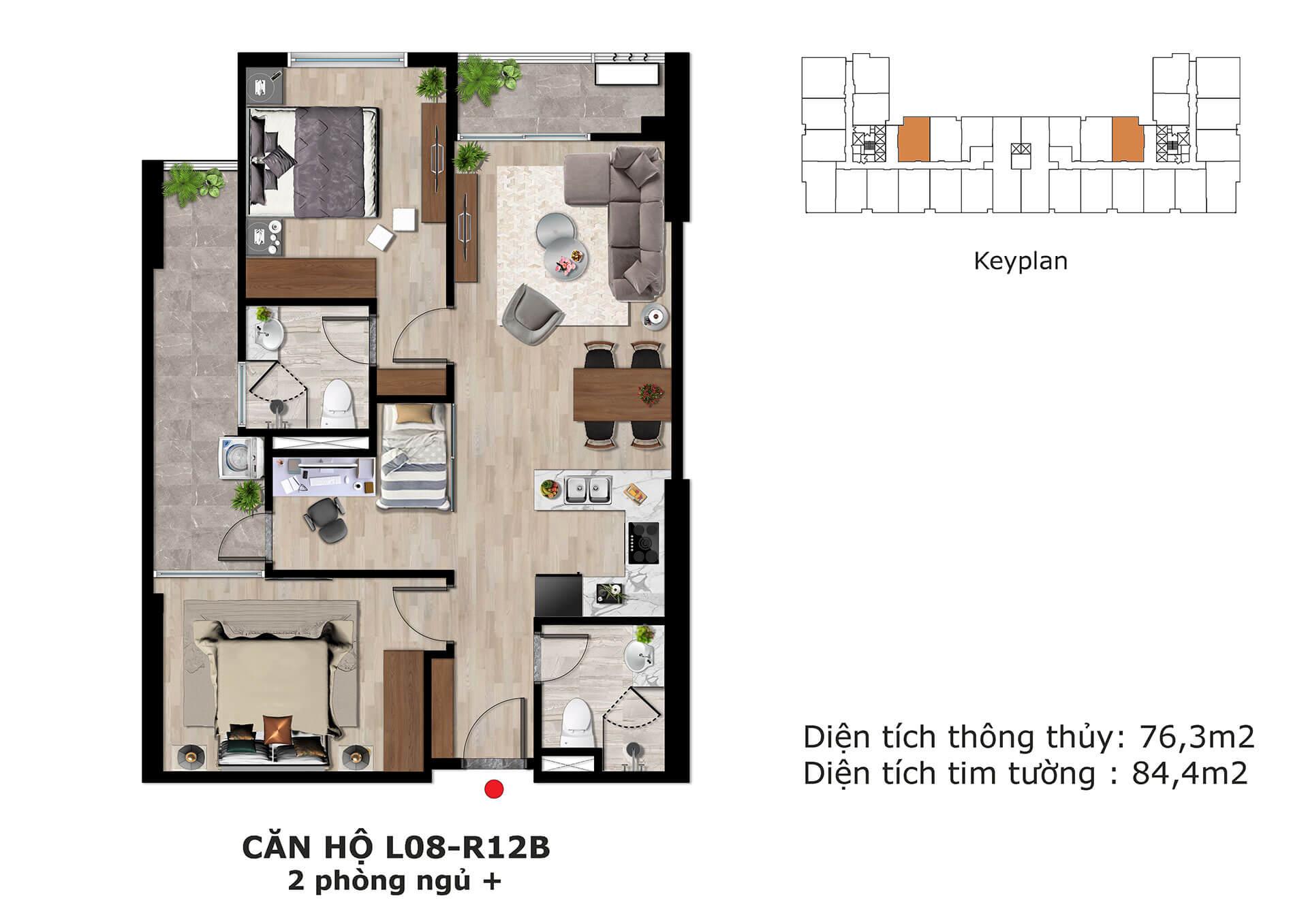 thiết kế căn hộ l8 dự án eden garden thái bình
