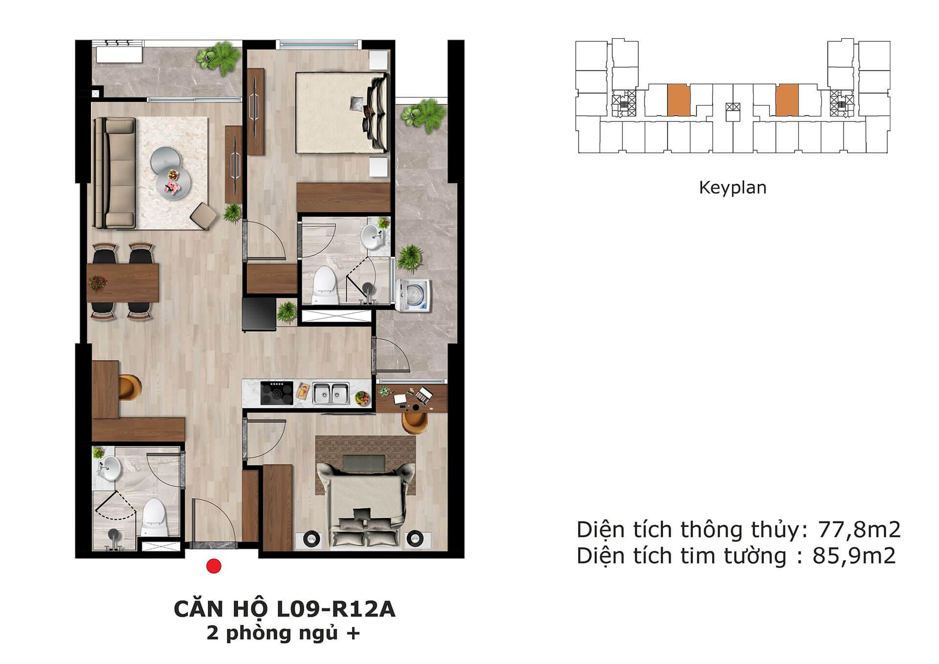 thiết kế căn hộ l9 dự án eden garden thái bình
