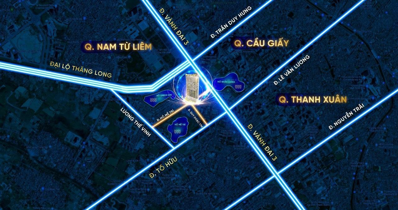 vị trí dự án trinity tower 145 hồ mễ trì