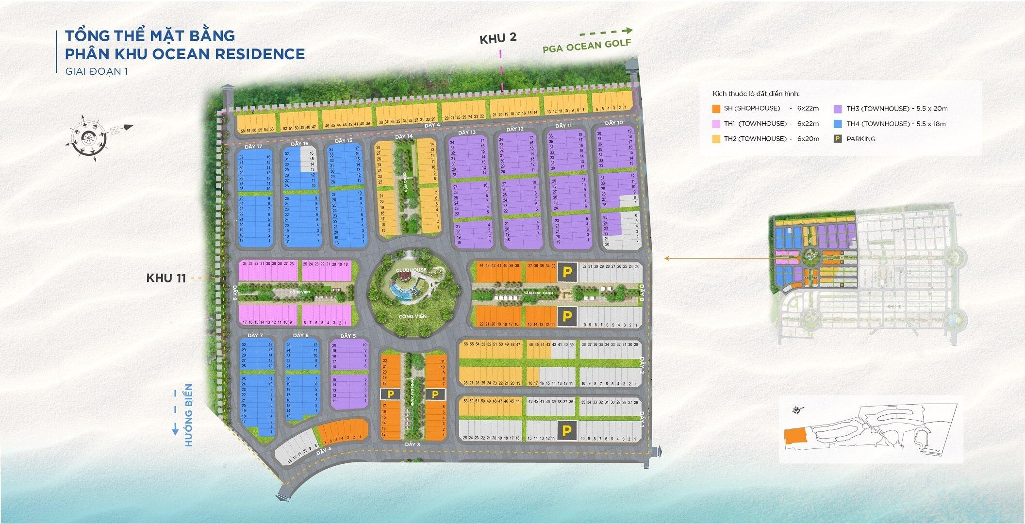 mặt bằng dự án ocean residence novaworld phan thiết