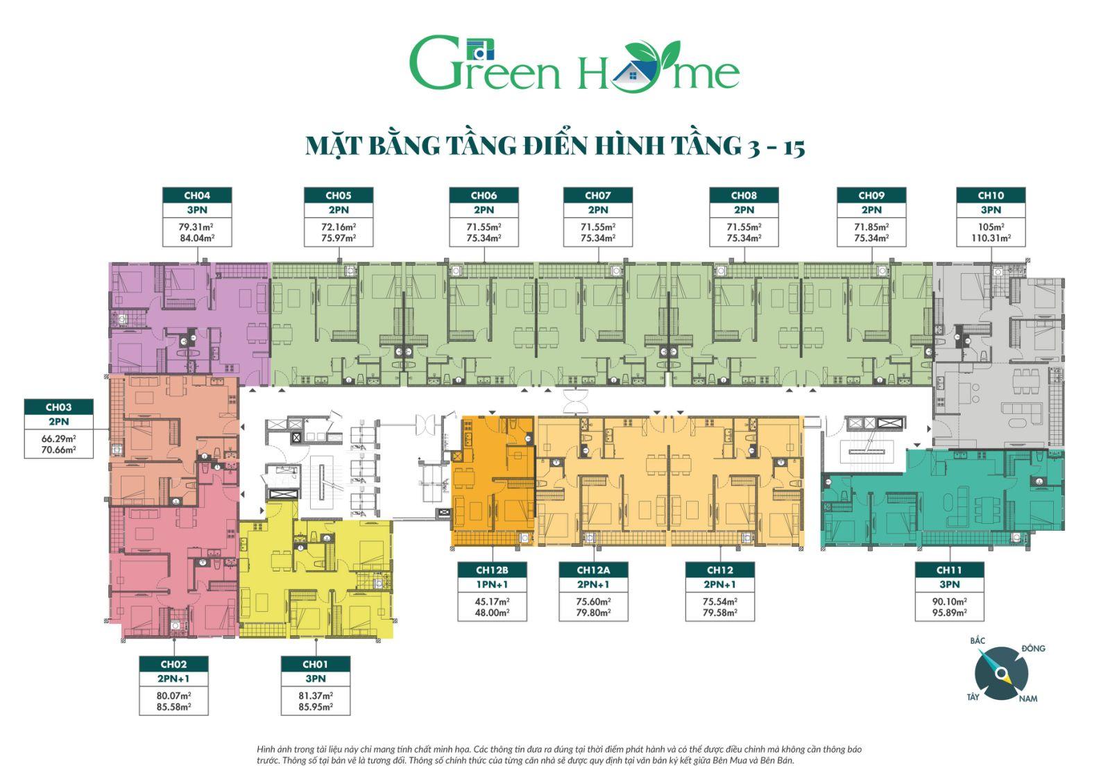 mặt bằng dự án phương đông green home việt hưng long biên