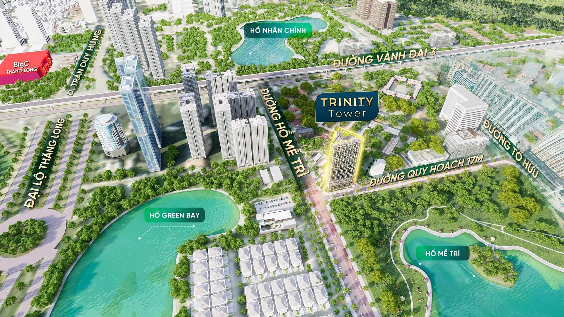phối cảnh dự án trinity tower 145 hồ mễ trì