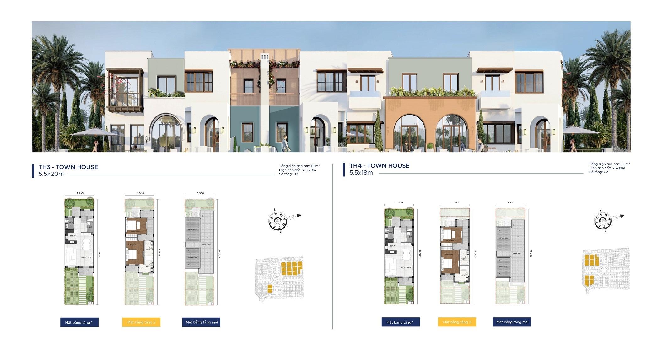 thiết kế townhouse dự án ocean residence novaworld phan thiết