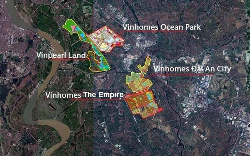 vị trí dự án vinhomes the empire văn giang hưng yên